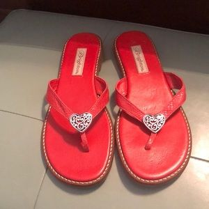 Brighton 8.5 red heart sandals